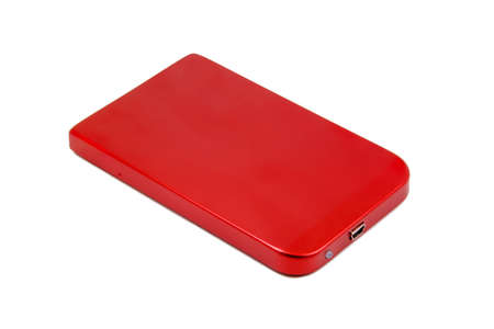 Portable Hard Drive red color