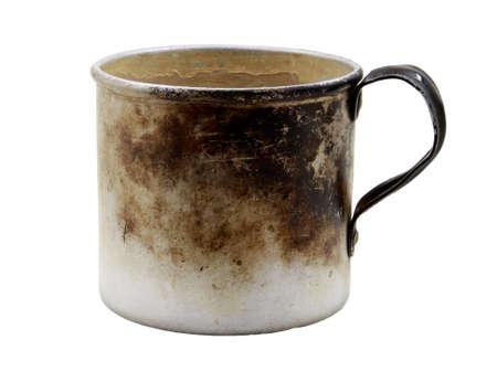old aluminum mug Stock Photo