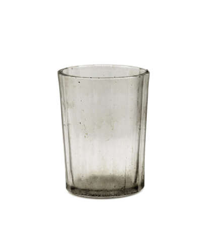 dungy: dirty empty glass