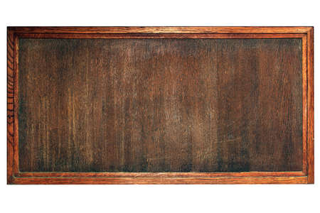 old wooden board for menu or notes Stock Photo