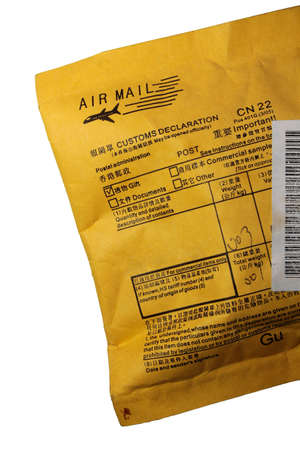 air mail packet Stock Photo