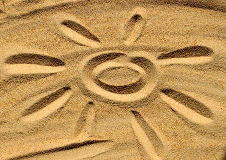 Sand and sun Stock Photo