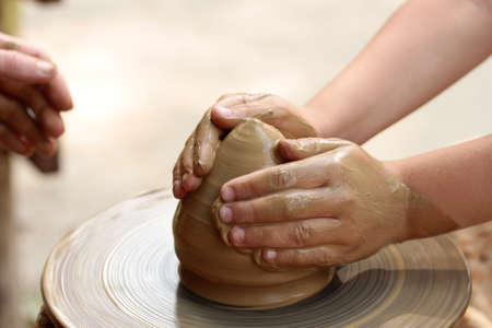 clay craft: Pottery art.