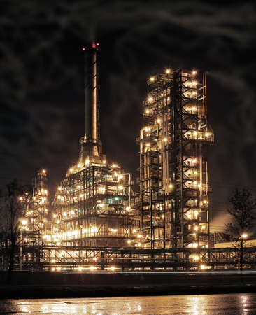 Round the clock running an oil refinery.