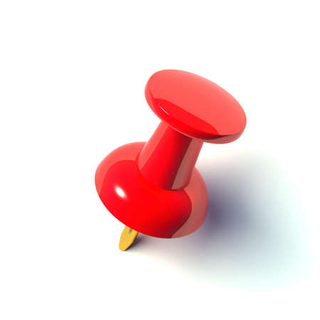 push pins: red pushpin Stock Photo