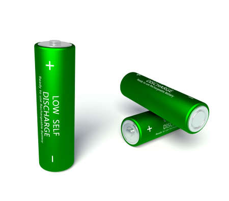 energize: 3d green rechargeable AA batteries