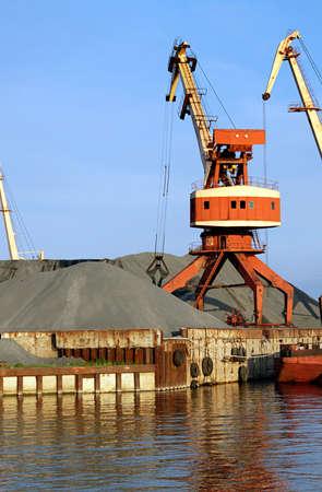 harbor crane in operation. 2