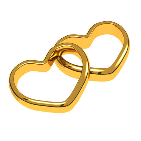 Wedding rings in the shape of hearts Stock Photo - 11855386