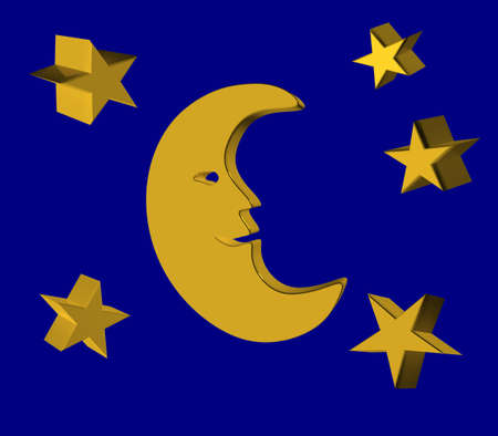 Crescent and star in the sky. photo