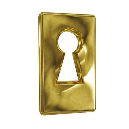 Retro keyhole isolated on a white background.