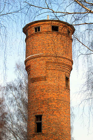 the water tower: The old water tower of bricks