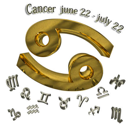Cancer zodiac sign, and date of birth.  Stock Photo - 12910571