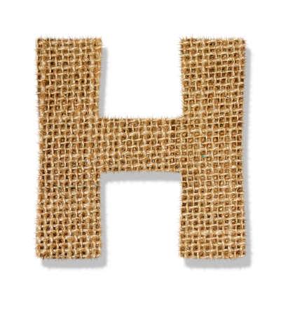The letter H Standard-Bild
