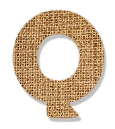 The letter Q Stock Photo