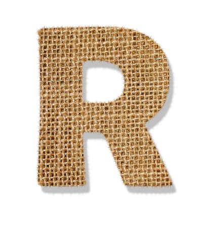The letter R Stock Photo