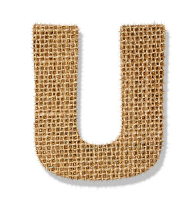 The letter U