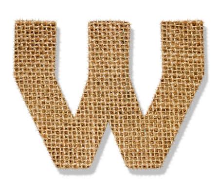 The letter W Standard-Bild