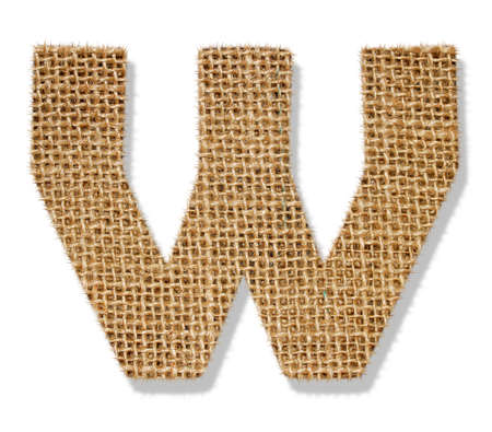 The letter W Stock Photo
