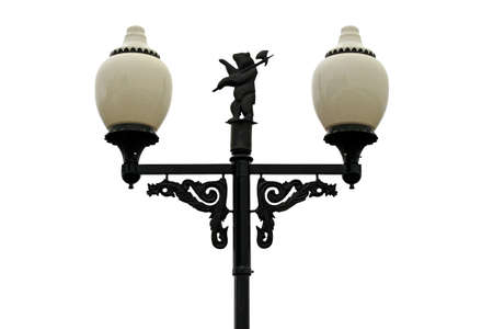 Decorative streetlight, isolated on a white background. Stock Photo
