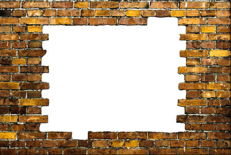 brick frame with white background