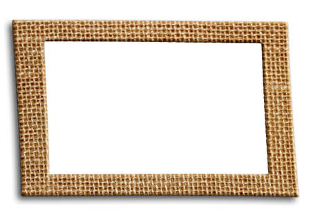 frame from burlap with isolated inner space
