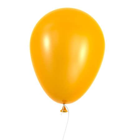 orange balloon isolated on white background