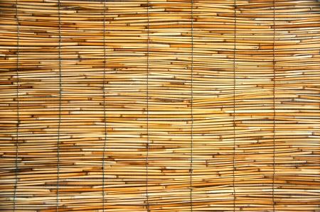 Tessitura Di Un Tappeti Arancioni Fatti Di Bambù E Corda Foto ...