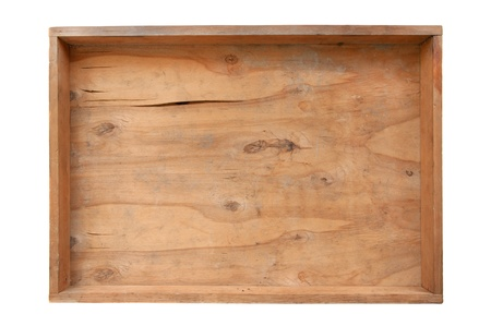 old dirty empty wooden  box  photo