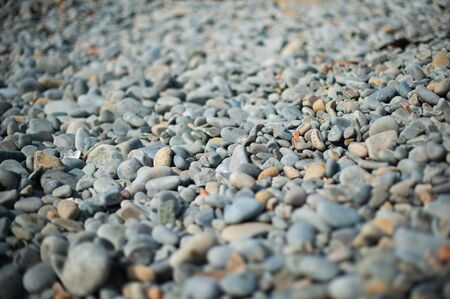 pebble on the seaside blurred with special lens photo