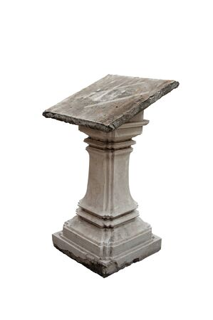 lectern: old stone lectern in temple in Bangkok