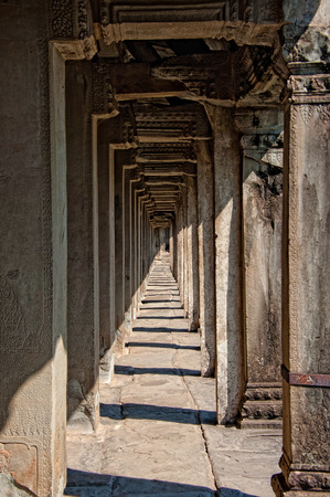 one of the corridors in Angkor wat photo
