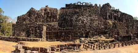 budda: panorama of budda made of big bricks Stock Photo