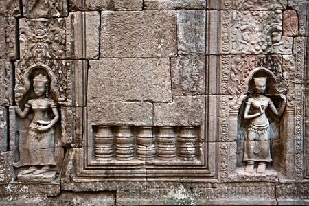 apsara: apsara on the wall of Angkor wat