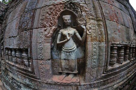 apsara: dancing apsara on the wall of Angkor Wat