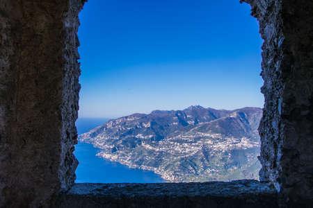 Window on the Amalfi coast