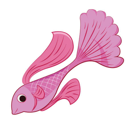 Pink fish Illustration
