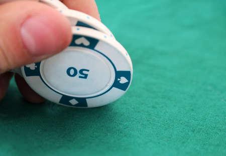 jeu de carte: Jeu de cartes � puces dans un casino Banque d'images
