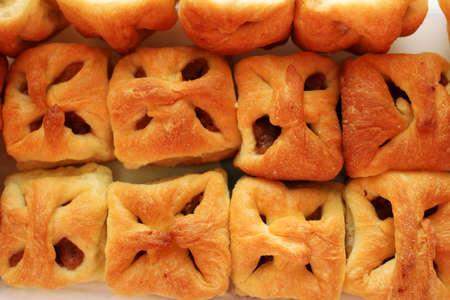 Delicious mini homemade apple cakes from above Reklamní fotografie
