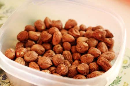 Tasty and healthy hazelnuts in the bowl Reklamní fotografie