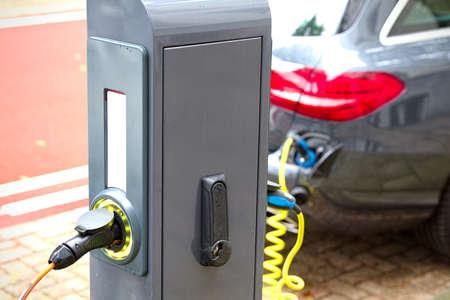 recharging: Column for recharging electric cars