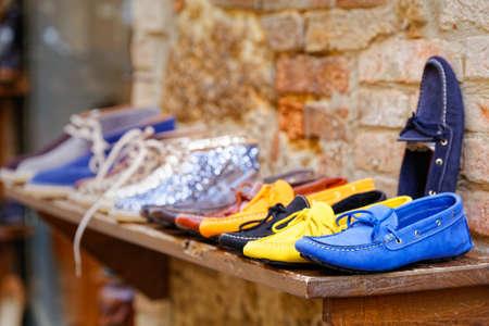 pienza: Loafers exposure craft in Pienza skin Stock Photo