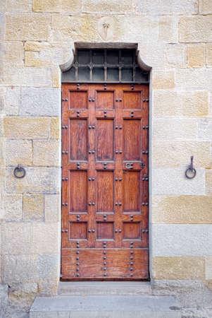 valdorcia: Medieval door in Arezzo, Tuscany