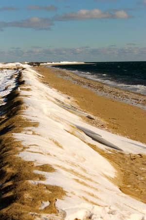 sand dune in winter