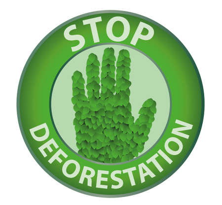 Stop deforestation Vector
