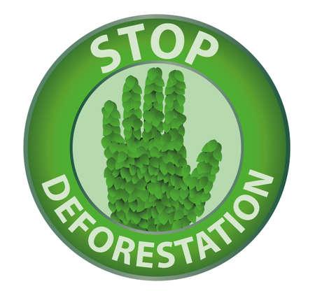 Stop deforestation Vector