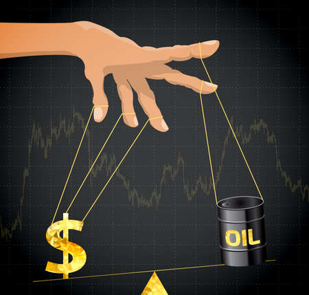 marionette: Manipulation of the price of oil.Financial metaphor.
