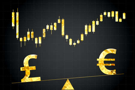 Symbols Of Euro And Dollar On Scales In The Background Forex