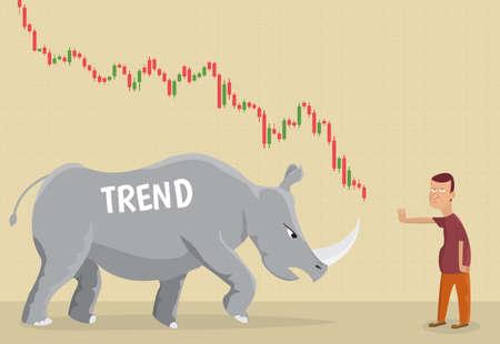 Trend as a metaphor rhino.Financial.