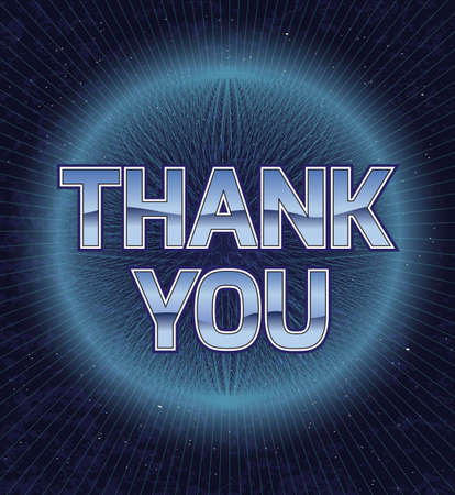 eighties: Abstract card of thanks.Vector illustration in the style of the eighties.