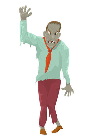Zombie with outstretched Hand.Vector illustration.